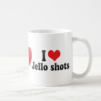Amo los tiros de Jello Taza De Café