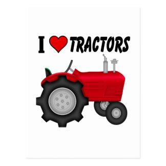 Amo los tractores (del corazón) tarjetas postales