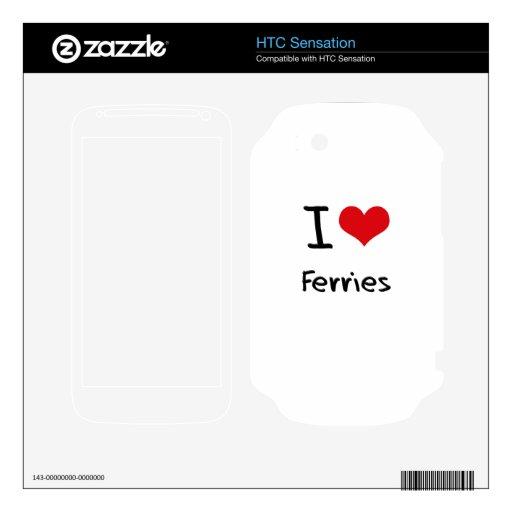 Amo los transbordadores HTC sensation skins