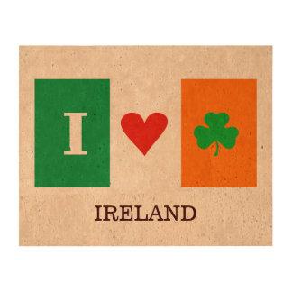 Amo los tréboles Irlanda del corazón Papel De Corcho