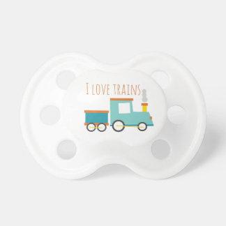 Amo los trenes chupetes para bebés