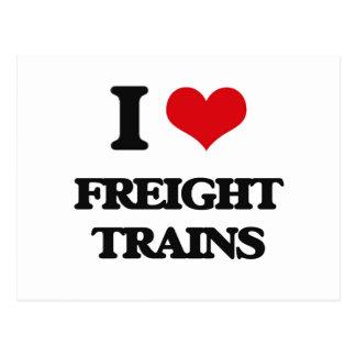 Amo los trenes de carga postal