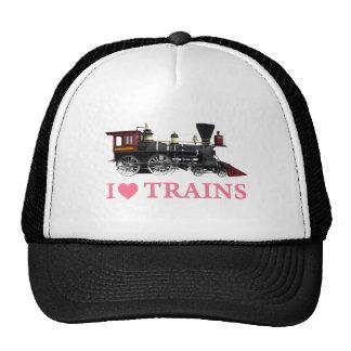 Amo los trenes gorras de camionero