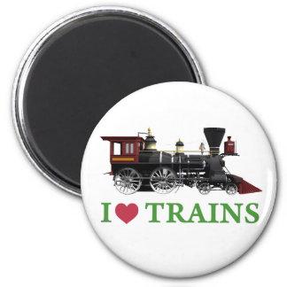 Amo los trenes imán redondo 5 cm
