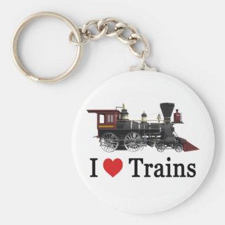Amo los trenes llavero