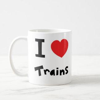 Amo los trenes tazas