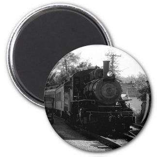 Amo los trenes viejos - arcada y ferrocarril de la imán redondo 5 cm