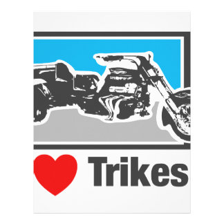 Amo los trikes - motocicletas membrete