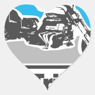 Amo los trikes - motocicletas pegatinas de corazon