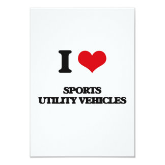 Amo los utilitarios deportivos invitación 8,9 x 12,7 cm