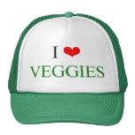 Amo los Veggies Gorras