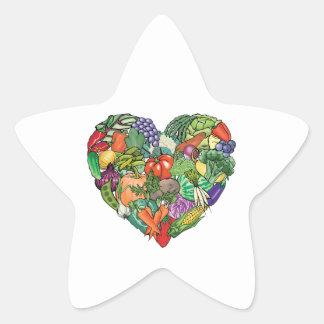 Amo los Veggies Calcomanías Forma De Estrella Personalizadas