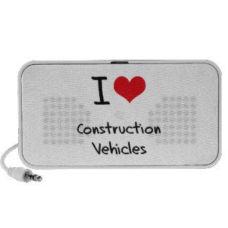 Amo los vehículos de la construcción portátil altavoces
