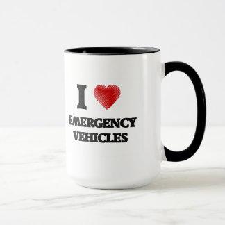 Amo los VEHÍCULOS de la EMERGENCIA Taza