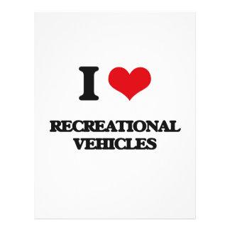 Amo los vehículos recreativos tarjeta publicitaria
