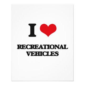 Amo los vehículos recreativos tarjetas publicitarias