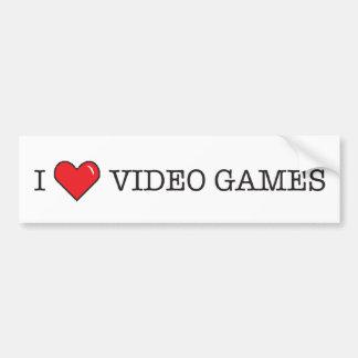 Amo los videojuegos pegatina para auto