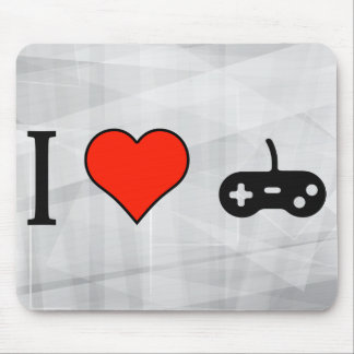 Amo los videojuegos del ordenador tapetes de ratones