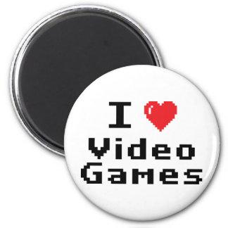 Amo los videojuegos imán redondo 5 cm