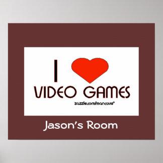 Amo los videojuegos póster