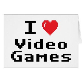Amo los videojuegos tarjeta de felicitación
