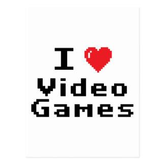 Amo los videojuegos tarjetas postales
