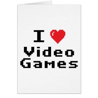 Amo los videojuegos tarjetón