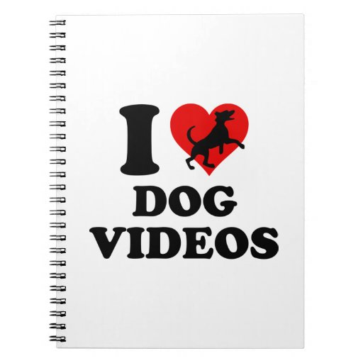 Amo los vídeos del perro spiral notebooks