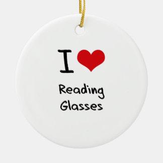 Amo los vidrios de lectura ornamentos de reyes