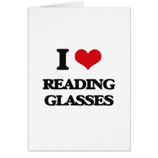 Amo los vidrios de lectura tarjetón