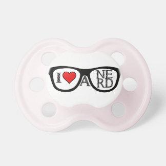 Amo los vidrios Geeky de un empollón Chupetes De Bebé