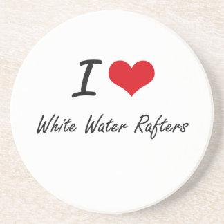 Amo los vigas del agua blanca posavasos manualidades