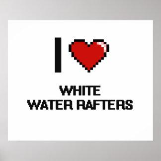 Amo los vigas del agua blanca póster