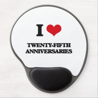 Amo los vigésimos quintos aniversarios alfombrilla gel