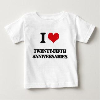 Amo los vigésimos quintos aniversarios playera