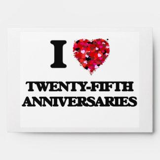 Amo los vigésimos quintos aniversarios sobres