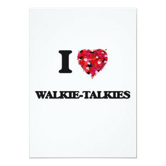 """Amo los Walkietalkie Invitación 5"""" X 7"""""""