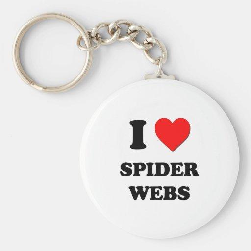Amo los Web de araña Llavero Redondo Tipo Pin