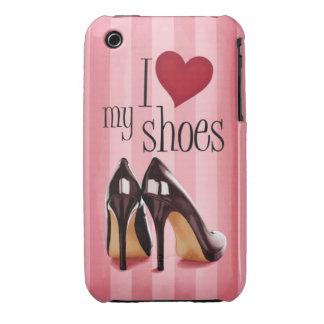 Amo los zapatos Case-Mate iPhone 3 coberturas