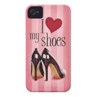Amo los zapatos Case-Mate iPhone 4 cárcasa