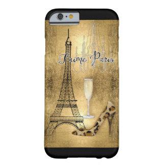 Amo los zapatos de la moda de la torre Eiffel de Funda Para iPhone 6 Barely There