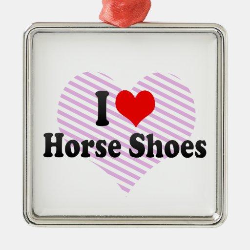 Amo los zapatos del caballo adorno