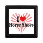 Amo los zapatos del caballo caja de joyas