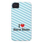 Amo los zapatos del caballo Case-Mate iPhone 4 protector