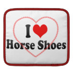Amo los zapatos del caballo mangas de iPad