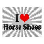 Amo los zapatos del caballo postal