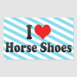 Amo los zapatos del caballo rectangular altavoces