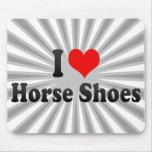 Amo los zapatos del caballo tapetes de ratón