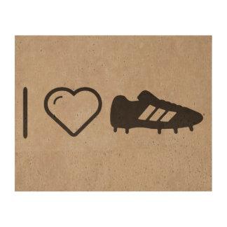 Amo los zapatos del fútbol papel de corcho para fotos