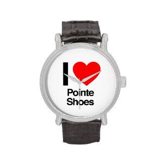 amo los zapatos del pointe reloj